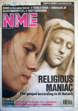 10--000 MANIACS - 'NME' - 13th May 1989 - Natalie Merchant On Cover - 1