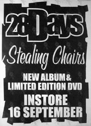 28 DAYS - 'Stealing Chairs' Album Poster - 1