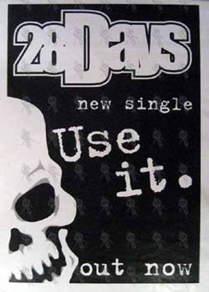 28 DAYS - 'Use It' Single Poster - 1