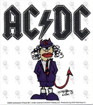 AC/DC - Angus Young Caricature Sticker - 1