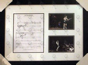 AC/DC - Custom Framed 'Let There Be Rock' Sheet Music And Live Photographs - 1