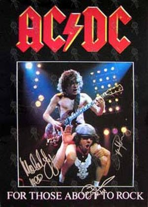 AC/DC - 'For Those About To Rock' 1982 U.K. Program - 1