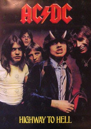 AC/DC - 'Highway To Hell' Album Poster - 1