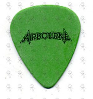 AIRBOURNE - Green Guitar Pick - 1