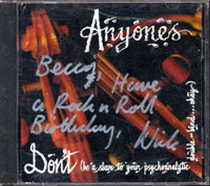 ANYONES-- THE - Don't (Be A Slave To Your Psychoanalytic Double-Blind... Okay) - 1