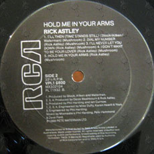 ASTLEY-- RICK - Hold Me In Your Arms - 4