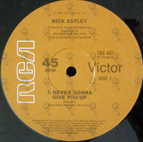 ASTLEY-- RICK - Never Gonna Give You Up - 2
