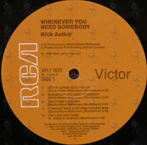 ASTLEY-- RICK - Whenever You Need Somebody - 4