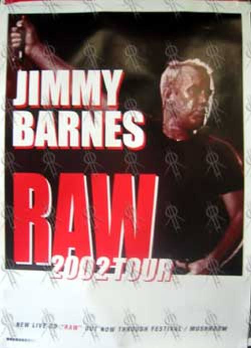 BARNES-- JIMMY - 'Raw' 2002 Tour Poster - 1