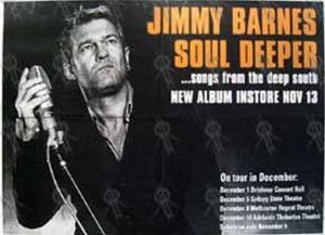 BARNES-- JIMMY - 'Soul Deeper ...Songs From The Deep South' Album/Tour Poster - 1