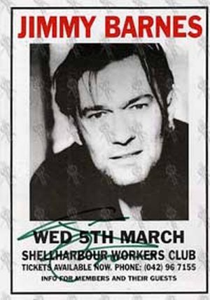 BARNES-- JIMMY - Wednesday March 5th 1997 - Shellharbour Workers Club Gig Flyer - 1