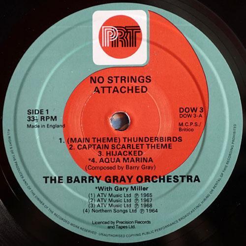 BARRY GRAY ORCHESTRA-- THE - No Strings Attached - 3