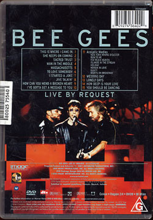 BEE GEES - Live By Request - 2