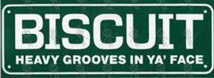 BISCUIT - Green 'Heavy Grooves In Ya' Face' Sticker - 1