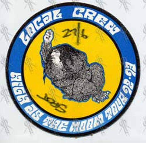 BLACK CROWES-- THE - 'High As The Moon' 1992-93 Tour Local Crew Pass - 1