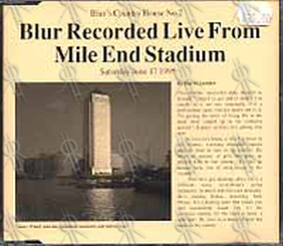 BLUR - Blur's Country House No. 2 - Recorded Live From Mile End Stadium - 1
