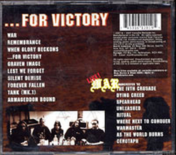 BOLT THROWER - ...For Victory - 2