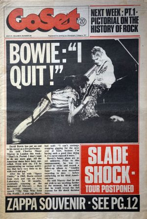 BOWIE-- DAVID - 'GoSet' - 21st July 1973 - Volume 8 - Number 29 - David Bowie On Cover - 1