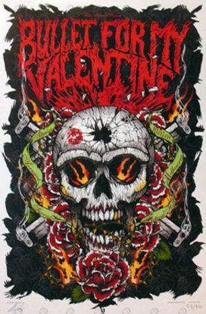 BULLET FOR MY VALENTINE|AVENGED SEVENFOLD - Festival Hall May 10th 2008 Show Poster - 1