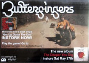 BUTTERFINGERS - 'The Deeper You Dig' Album Promo Display - 1