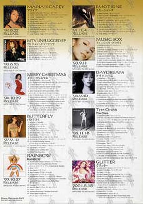 CAREY-- MARIAH - 'Greatest Hits' Japanese Release Promo Flyer - 3