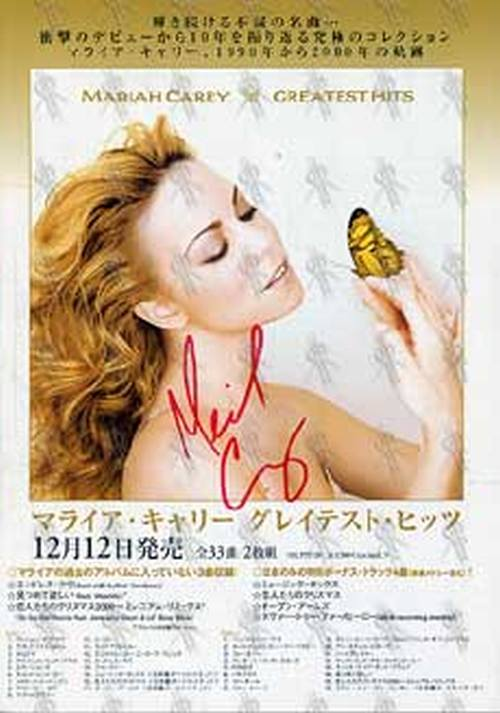 CAREY-- MARIAH - 'Greatest Hits' Japanese Release Promo Flyer - 1