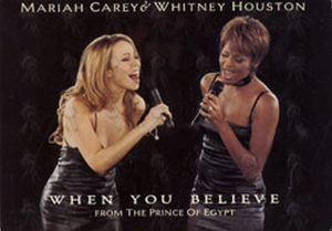 CAREY-- MARIAH|HOUSTON-- WHITNEY - 'When You Believe' Promo Postcard - 1