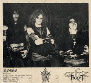 CELTIC FROST - Signed 'Morbid Tales' Era Double Sided Photo - 1