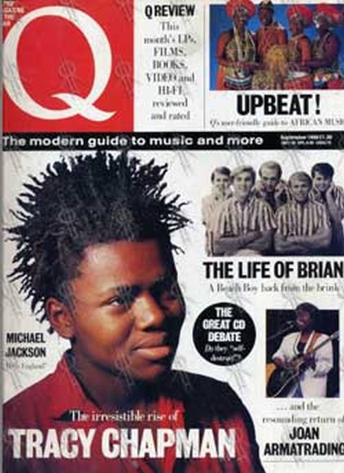 CHAPMAN-- TRACY - 'Q' - Sept 1988 - Tracy Chapman On Cover - 1