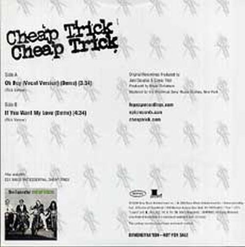 CHEAP TRICK - Oh Boy / If You Want My Love - 2