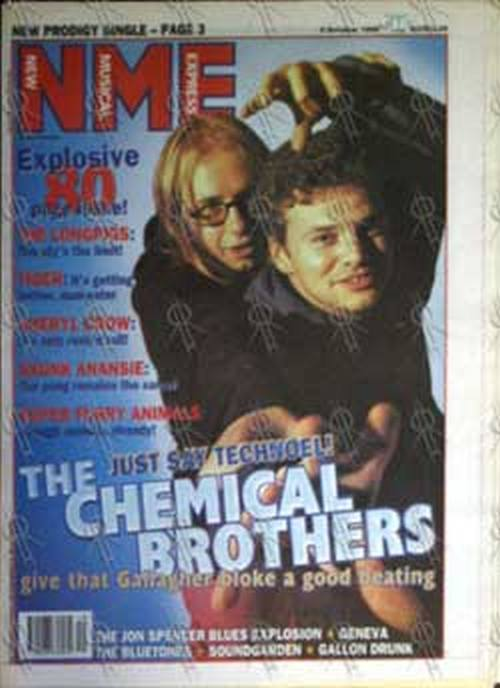 CHEMICAL BROTHERS-- THE - 'NME' - 5th October 1996 - Chemical Brothers On Cover - 1