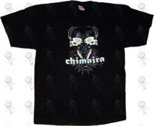 CHIMAIRA - Black 'Horned Skulls' Design T-Shirt (PW) - 1