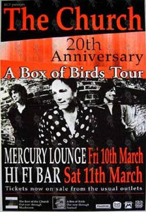 CHURCH-- THE - '20th Anniversary - A Box Of Birds Tour' Gig Poster - 1