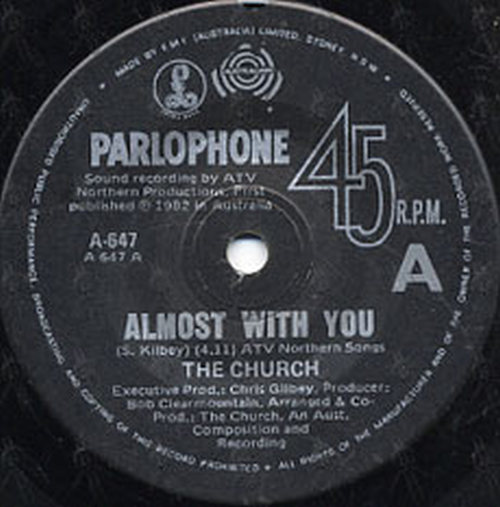 CHURCH-- THE - Almost With You - 3