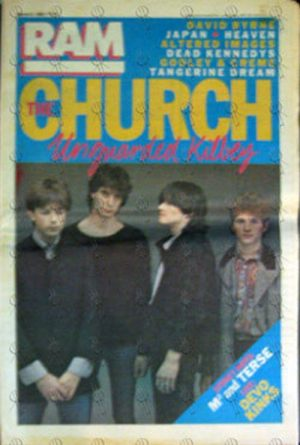 CHURCH-- THE - 'RAM' - 5th March 1982 - Issue #179 - The Church On Cover - 1