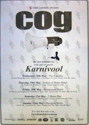 COG - 2005 Australian 'The New Normal' Tour Poster - 1