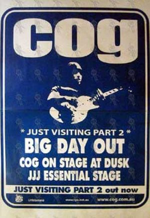 COG - 'Just Visiting Part 2' EP/Big Day Out' Poster - 1