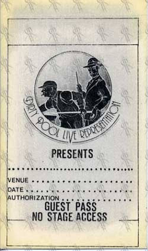 COLD CHISEL - 'Dirty Pool' Live Representation Guest Pass - 1