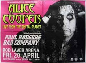 COOPER-- ALICE - 'Live From The Brutal Planet' Gig Poster - 1