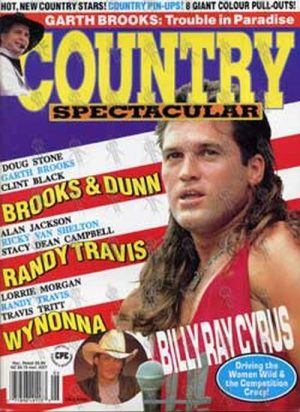CYRUS-- BILLY RAY - 'Country Spectacular' - 1992 - Billy Ray Cyrus On Cover - 1