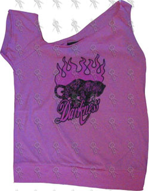 DARKNESS-- THE - Pink Custom Cut Leopard Design Girls Top - 1