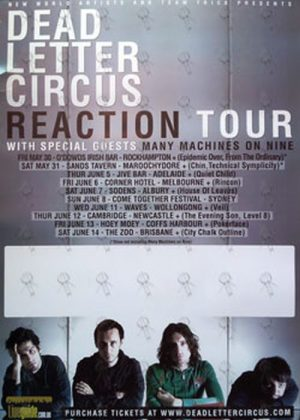 DEAD LETTER CIRCUS - 'Reaction' Tour Poster 2008 - 1