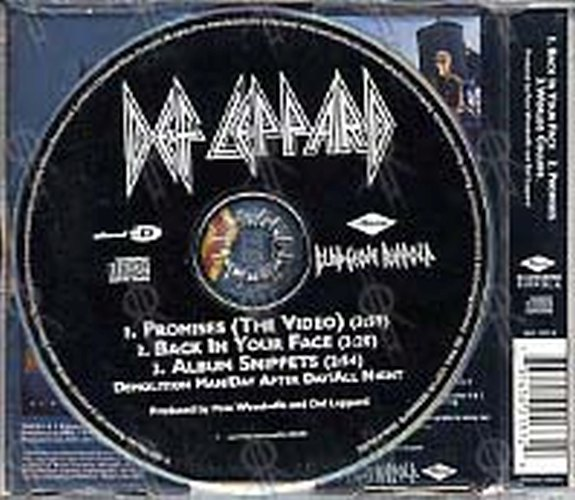DEF LEPPARD - Back In Your Face / Promises (Part 2 of a 2 CD set) - 2