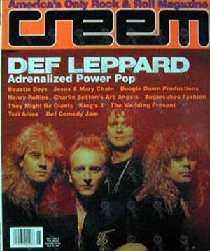 DEF LEPPARD - 'Creem' - May 1992 - Def Leppard On Cover - 1