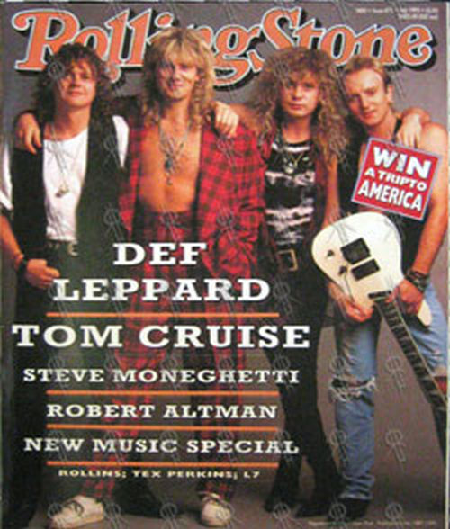 DEF LEPPARD - 'Rolling Stone' - July 1992 - Def Leppard On Cover - 1