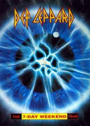 DEF LEPPARD - 'The 7-Day Weekend Tour' Program - 1