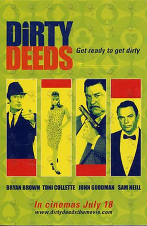 DIRTY DEEDS - Cinema Promo Postcard - 1