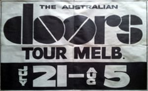 DOORS-- THE - Australian Doors Show Tour - July 21st to August 5th