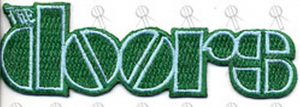 DOORS-- THE - Green Logo Embroidered Sew-On Patch - 1