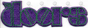 DOORS-- THE - Purple Logo Embroidered Sew-On Patch - 1
